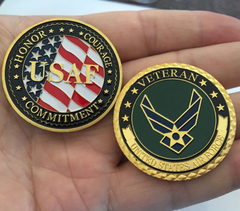Moeda Veteranos USAF - United States Air Force - MILITARIA SBL