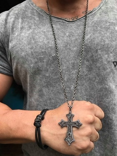 Crucifixo Silver Black