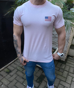 Camiseta Flag USA Pink