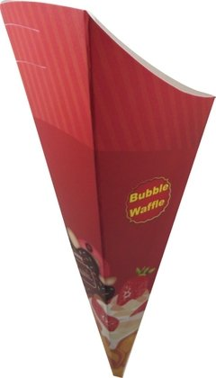 Embalagem Cone Bubble Waffle - Loja Steince