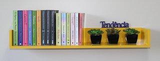 Prateleira em U para Livros - MDF Amarel...