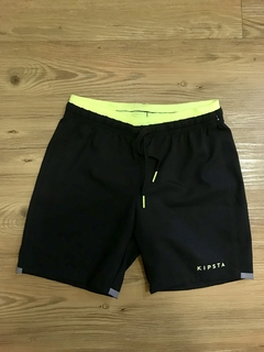 Shorts Preto e Neon Decathlon