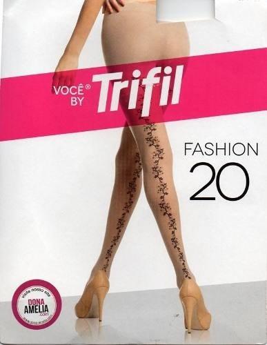 af75b11a6 Meia-calça Risca Floral Atrás Trifil Fashion 20