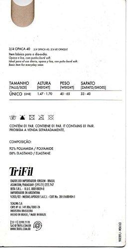 4f1481958 4 Meia 3 4 Trifil Tam. Único Natural Fio 40. 0% OFF. 1