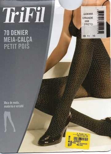 96644cdc8 Meia-calça Petit Pois Fio 70 Trifil - Dona Amélia