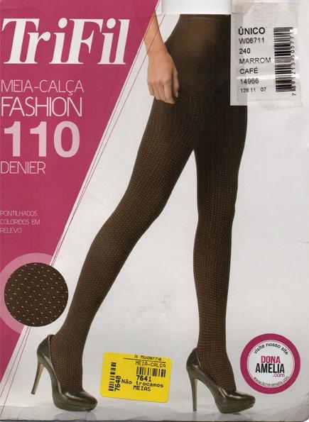 247ae5b3f Meia-calça Trifil Pontilhados em relevo Fio 110