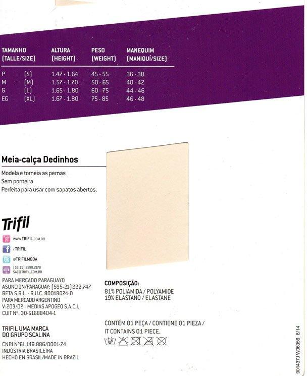 02e525f11 Meia-calça Fio 10 Dedinhos De Fora - Dona Amélia