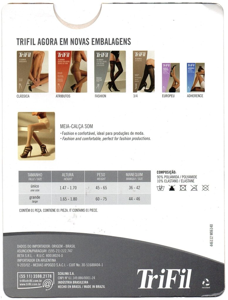 4f02754a5 Meia-calça Som Trifil Fio 20 - W06140 - Dona Amélia