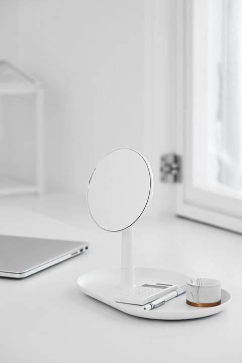 MIRROR TRAY 271212 blanco