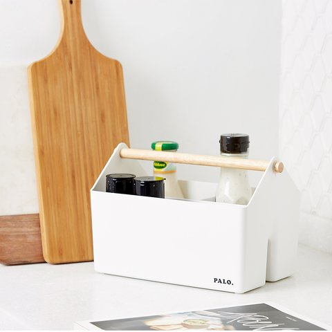 Organizador PALO WOODEN HANDLE  blanco 271409 - ORGANIZZA