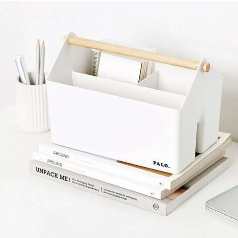 Organizador PALO WOODEN HANDLE  blanco 271409