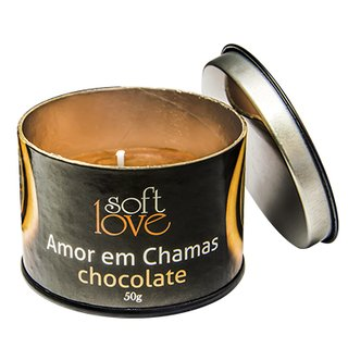 Vela Amor Em Chamas Chocolate - Soft Love