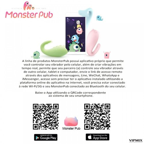 Cápsula MISTER DEVIL com 8 Vibrações Via BLUETOOTH  - Monster Pub