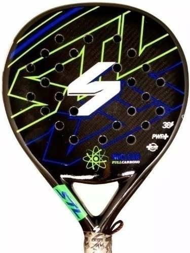 Paleta Padel Paddle Steel Custom Nuclear Carbono + Regalos!