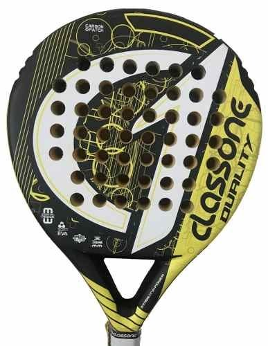 Paletas Paddle Padel Class One Duality Carbon + Grip + Prot