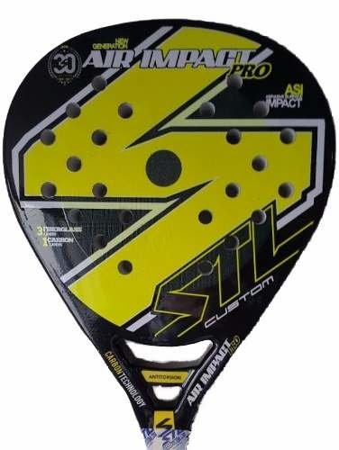Paleta Padel Steel Custom Air Impact Pro + Grip + Protec