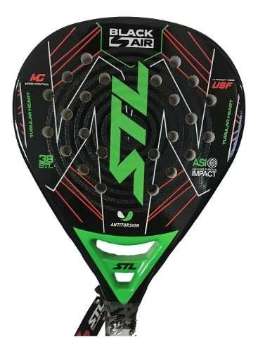 Paleta Paddle Padel Steel Custom Black Air + Regalos!