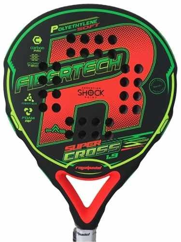 Paleta Royal Padel Super Cross 1.9 + Funda + Grip + Protec