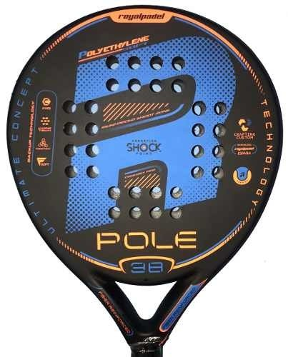 Paleta Paddle Padel Royal Pole 38 Mm Foam + Grip + Protector