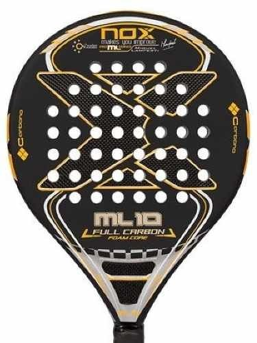 Paleta Padel Nox Ml 10 Foam Full Carbon + Funda + Grip + Pro