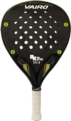 Paleta Padel Vairo Black Carbon Bk Speed + Funda/grip/prote