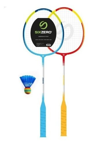 Set De Badminton Junior 2 Raquetas + 1 Pluma Sixzero