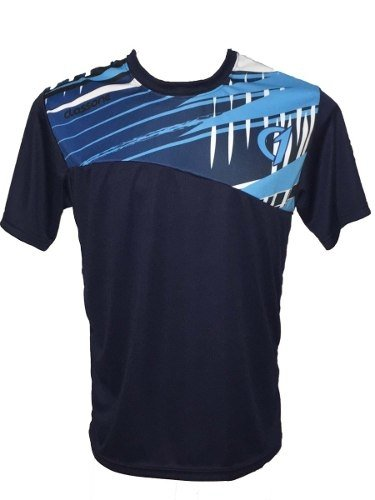 Conjunto Remera Short Dry Fit Tenis Paddle Class One Azul