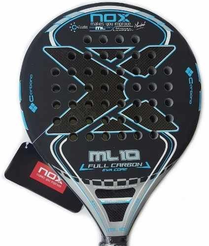 Paleta Paddle Padel Nox Ml 10 Eva Full Carbon + Grip + Prot