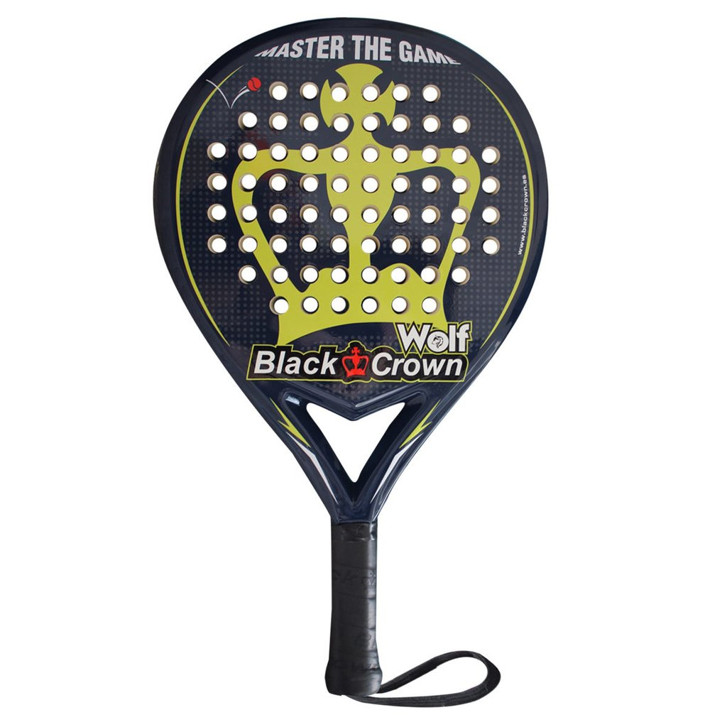 Paleta Padel Paddle Black Crown Wolf + Regalos!