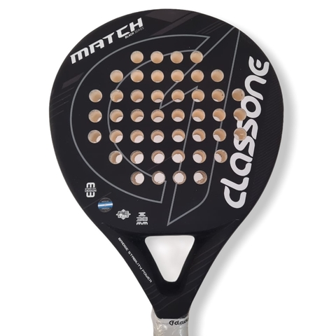 Paleta Padel Class One Match Black Eva + Grip + Protector