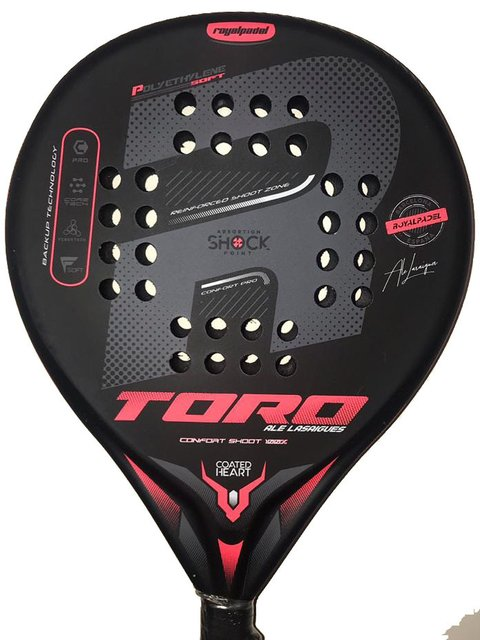 Paleta Paddle Royal Padel Toro + Funda + Grip + Protector