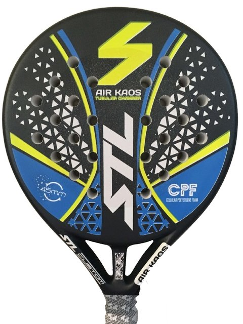 Paleta Padel Steel Custom Kaos Air + Grip + Prot