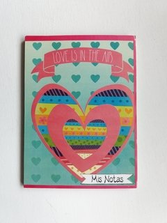 CUADERNO MIS NOTAS LOVE IN THE AIR - comprar online