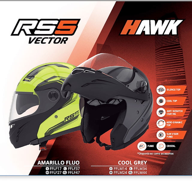 Casco Hawk RS5 Vector - Rebatible con doble visor