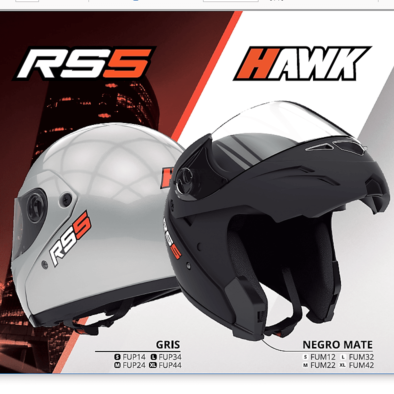 Casco Hawk RS5 Rebatible
