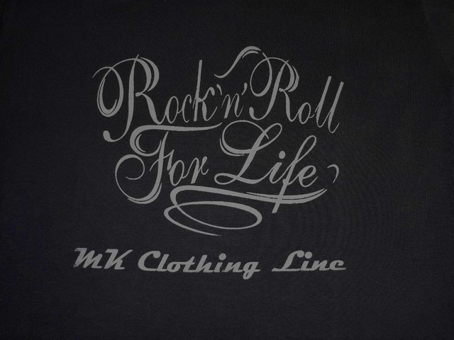 Remera Rock & Roll for Life Negra - comprar online