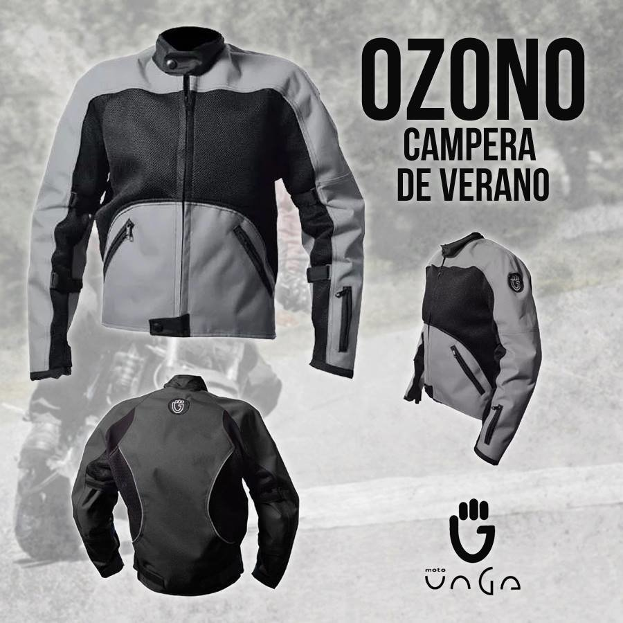 Campera de Moto de Verano OZONO - Protecciones e Impermeable desmontable