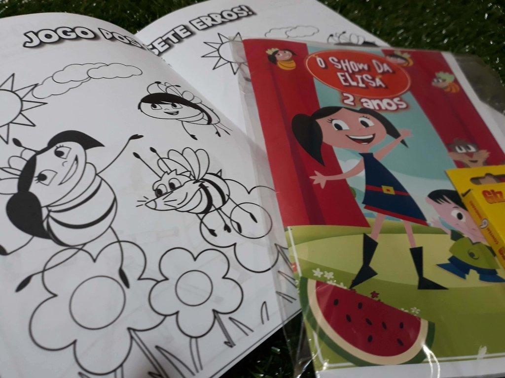 Kit Revistinha Atividades Colorir Show Da Luna Com Giz