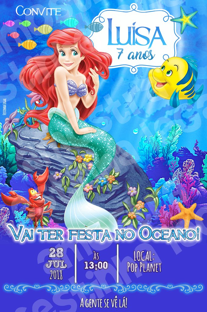 Convite Virtual Ariel Arte Digital Para Whatsapp