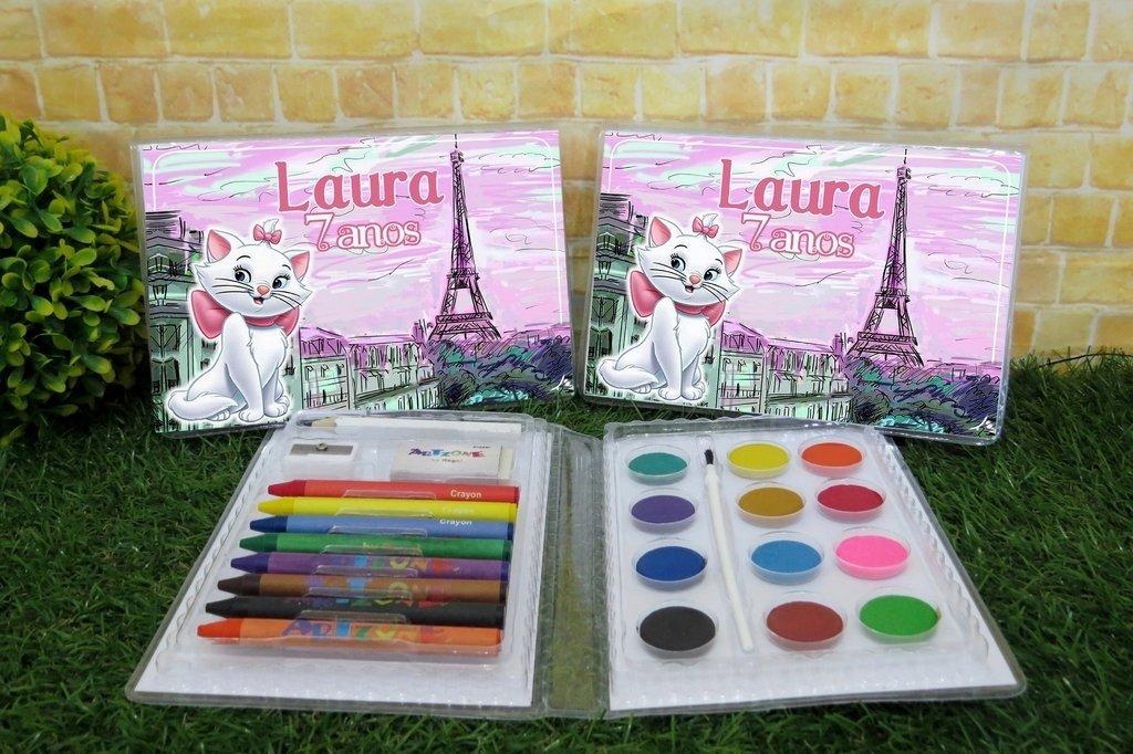 15 Estojos De Pintura Gatinha Marie Com 24 Itens Completo