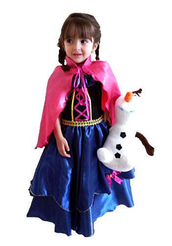 7ef36ac60dfbe8 Fantasia infantil Princesa Anna Frozen