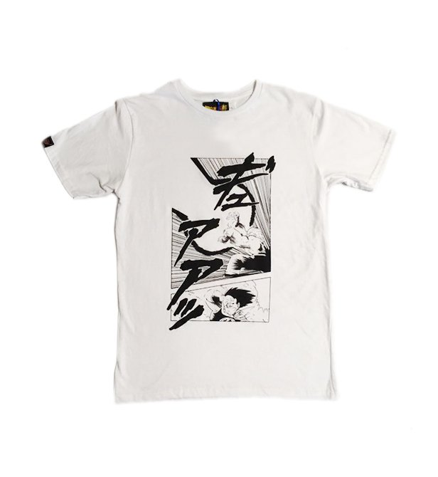 Remera Dragon Ball Manga Color Blanco