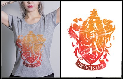 Remera Harry Potter Sublimada Gryffindor Melange – Corte Mujer