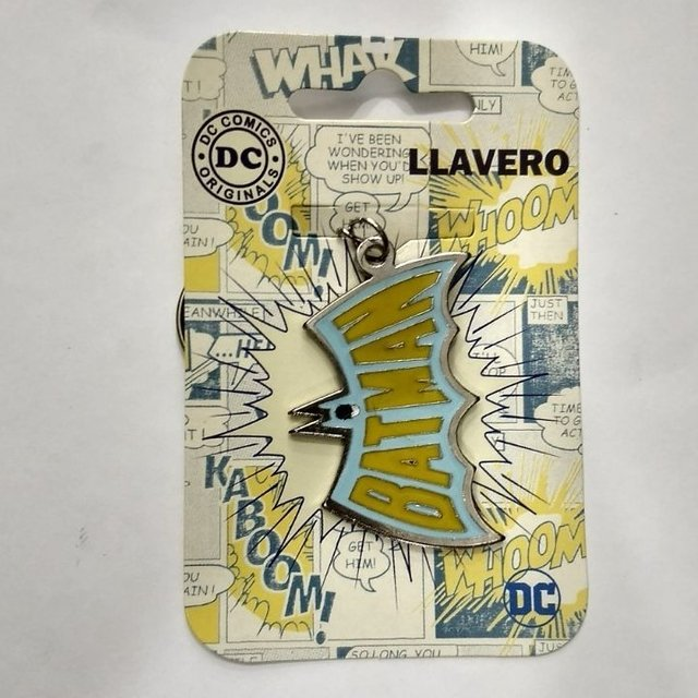 llavero dc comics logo batman retro (metal)