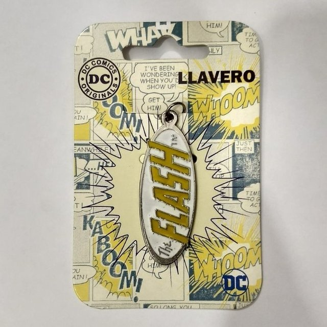 llavero dc comics logo flash (metal)