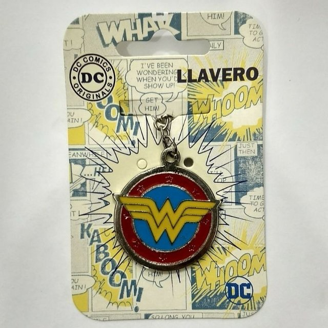 llavero dc comics wonder woman logo (metal)