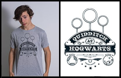 Remera Harry Potter Sublimada Quidditch Melange – Corte Unisex