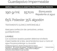Tela de Guardapolvo IMPERMEABLE - Innatura