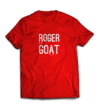 Camiseta Roger is The Goat Vermelha