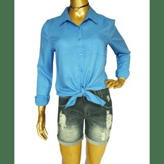 Camisas Feminina Linho Manga Longa
